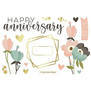 Die Cuts Simple Stories Page Pieces Anniversary