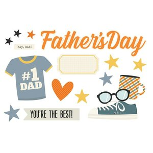 Die Cuts Simple Stories Page Pieces Father's Day