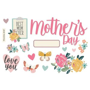 Die Cuts Simple Stories Page Pieces Mother's Day