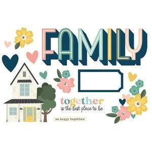Die Cuts Simple Stories Page Pieces Family