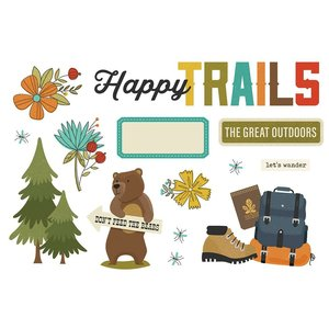 Die Cuts Simple Stories Page Pieces Happy Trails