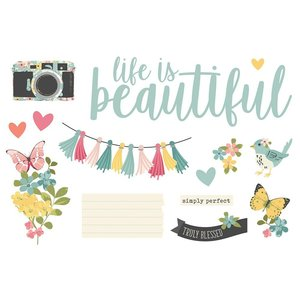 Die Cuts Simple Stories Page Pieces Life is Beautiful