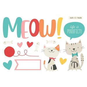 Die Cuts Simple Stories Page Pieces Meow