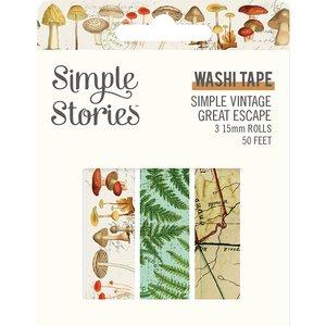 Set Washi Tapes Simple Vintage Great Escape