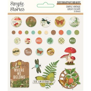 Set de Brads Simple Vintage Great Escape