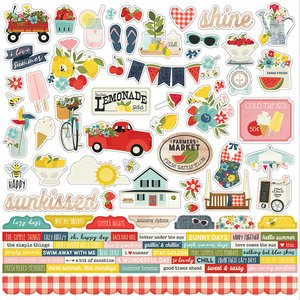 "Pegatinas 12x12"" Simple Stories Summer Farmhouse"