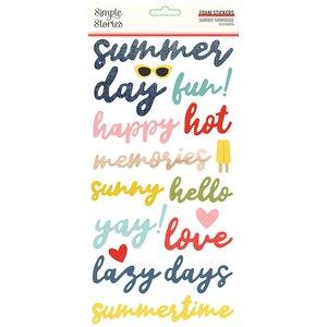 "Pegatinas de foam 6x12"" Simple Stories Summer Farmhouse"