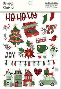 Pegatinas en libro Simple Stories Jingle All The Way