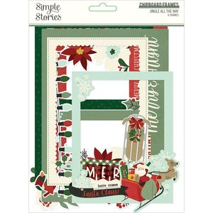 Marcos de chipboard Simple Stories Jingle All The Way
