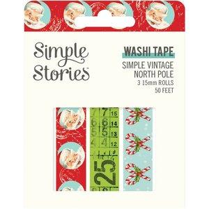 Set Washi Tapes Simple Vintage North Pole