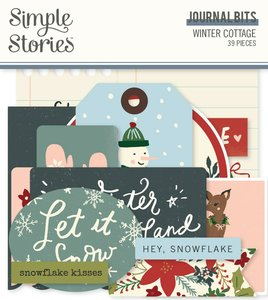 Die Cuts Journal Simple Stories Winter Cottage