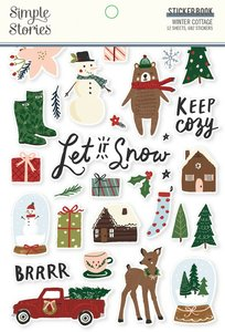 Libreto de pegatinas Simple Stories Winter Cottage