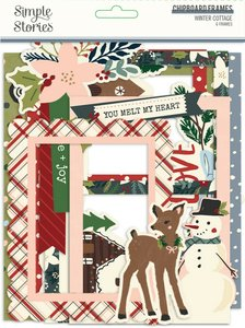 Marcos de chipboard Simple Stories Winter Cottage