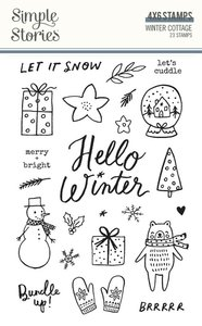 Sellos Simple Stories Winter Cottage