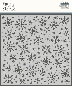 Máscara Simple Stories Winter Cottage Snowflakes