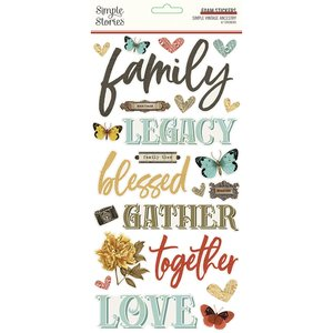 Pegatinas de foam Simple Stories SV Ancestry