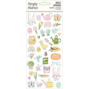 Pegatinas Puffy Simple Stories Bunnies y Blooms