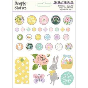 Set de brads Simple Stories Bunnies y Blooms