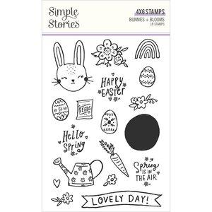 Sellos Simple Stories Bunnies y Blooms