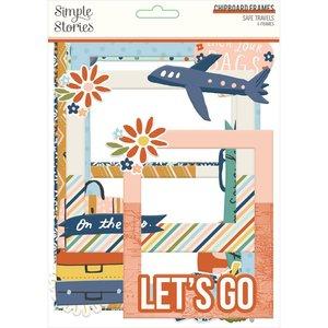Marcos de chipboard Simple Stories Safe Travels