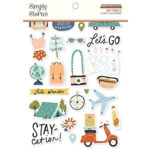 Libreto de pegatinas Simple Stories Safe Travels