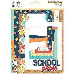Marcos de chipboard Simple Stories School Life