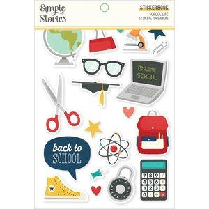 Libreto de pegatinas Simple Stories School Life