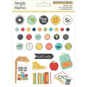 Set de brads Simple Stories School Life