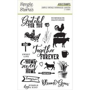 Sellos Simple Stories Farmhouse Garden