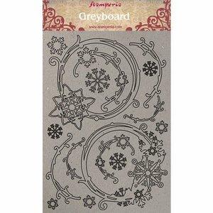 Hoja A4 de chipboard Stampería Winter Tales Snowflakes
