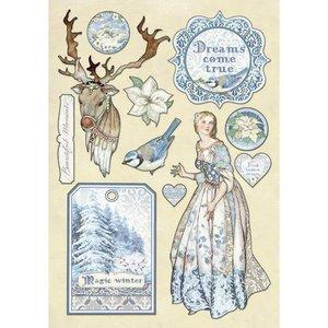 Maderitas coloreadas Stampería Winter Tales Magic