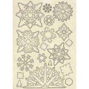 Maderitas Stampería Winter Tales Snowflakes