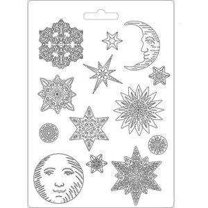 Molde flexible A4 Stampería Winter Tales Snowflakes