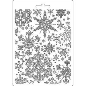 Molde flexible A5 Stampería Winter Tales Snowflakes