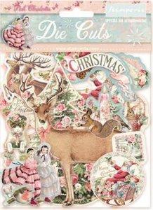 Die Cuts de chipboard Stampería Christmas Pink