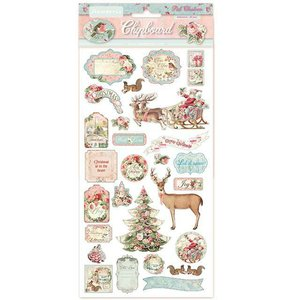 "Chipboard 6x12"" Stampería Christmas Pink"
