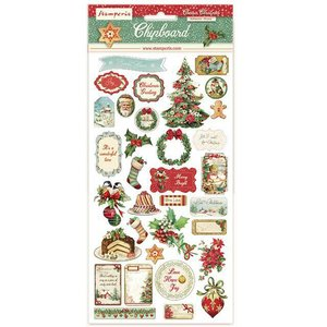 "Chipboard 6x12"" Stampería Christmas Classic"