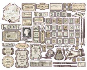 Die Cuts de chipboard Stampería Calligraphy