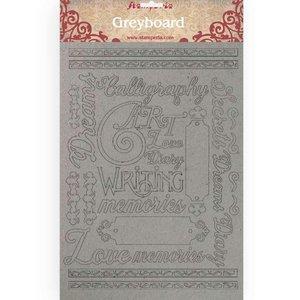 Hoja A4 de chipboard Stampería Calligraphy