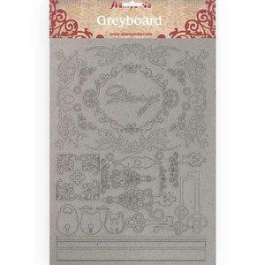 Hoja A4 de chipboard Stampería Calligraphy Diary