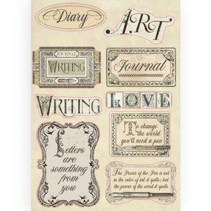 Maderitas coloreadas Stampería Calligraphy Labels