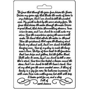 Molde flexible A5 Stampería Calligraphy Manuscript