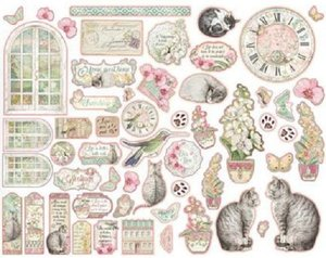 Die Cuts de chipboard Stampería Orchids and Cats