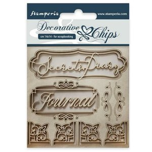 Stampería Decorative Chips Secret Diary