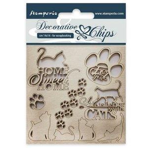 Stampería Decorative Chips Cats
