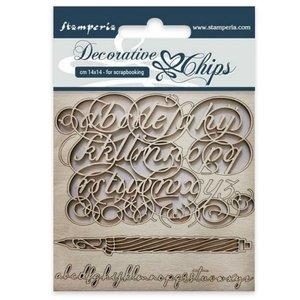 Stampería Decorative Chips Alphabet