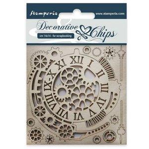 Stampería Decorative Chips Gears & Clock