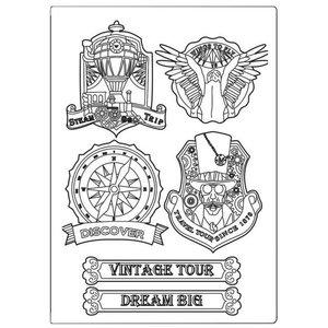Molde de silicona A5 Stampería Sir Vagabond Vintage Tour