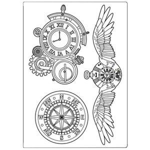 Molde de silicona A5 Stampería Sir Vagabond Clocks & Wings