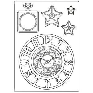 Molde de silicona A5 Stampería Sir Vagabond Clocks & Stars
